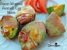 Bacon Wrapped Avocado Egg Nests (paleo scd)