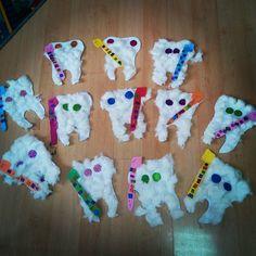 tooth craft idea for kids - Salud Bucal Body Preschool, Preschool Activities, Toddler Crafts, Toddler Activities, Kids Crafts, Sport Nutrition, Science Nutrition, Nutrition Plate, Nutrition Pyramid