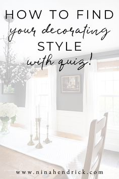 "Are you asking yourself ""What's my decorating style""? This post with a fun quiz helps you learn how to find your decorating style so you can begin to create a meaningful home you love. Interior Design Styles Quiz, Interior Decorating Styles, Home Decor Styles, Interior Styling, Decorating Your Home, Diy Home Decor, Decorating Style Quiz, Decorating Hacks, My Style Quiz"