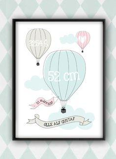 Anna Göran Design - Luftballong - doptavla