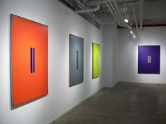 Steven Alexander, Antilles VI, 2010, 58 x 126 inches, acrylic on linen, 8 canvases 20 x 18 in each  Steven Alexander, Installation view, L t...