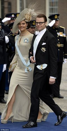 Crown Princess Victoria and Crown Prince Daniel of Sweden attend the inauguration of Dutch King Willem-Alexander, April 30, 2013.