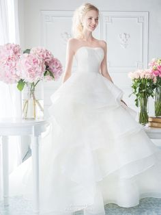 Romantic and refreshing, this wedding dress from Digio Bridal embraces sweet femininity with a touch of fairy tale magic!
