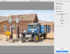 The HDR Merge Preview dialog
