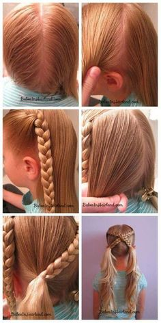 Criss cross pigtail braids