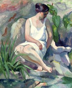 Henri Manguin - Bather Seated by a Cassis Paintings I Love, Beautiful Paintings, Social Art, Georges Braque, Post Impressionism, Painting Gallery, Renaissance Art, Henri Matisse, French Art