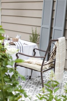 A DIY Stenciled Cement Patio Using The Fabiola Tile Stencil From Cutting  Edge Stencils. Http