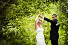 Dancing At Country Wedding