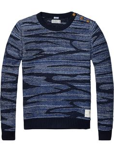 Pullover with buttons   Pullover   Men Clothing at Scotch & Soda