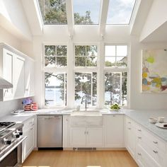 Glass and windows #kitchen