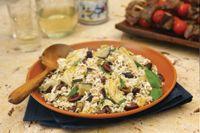 Mediterranean Eggplant, Artichoke And Feta Rice Salad