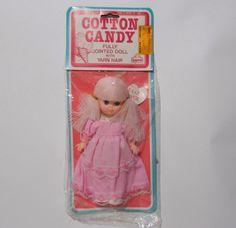Vintage Cotton Candy Doll Rare Sealed Big Eyes Pink Yarn Hair #Eugene #DollswithClothingAccessories