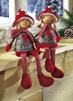 Christmas Elf Doll, Christmas Sewing, Christmas Angels, Christmas Stockings, Christmas Crafts, Handmade Christmas Decorations, Holiday Ornaments, Elves And Fairies, Theme Noel