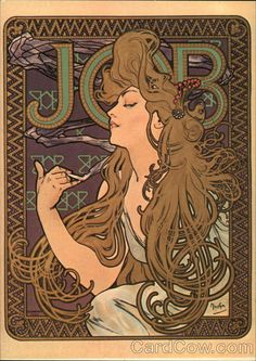 Job 1898  Probably the most famous work of Alphonse Mucha