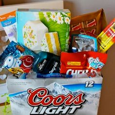 Man Easter basket for the guy in your life! Must remember this!!!