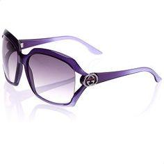 Gucci Large Square Interlocking Blue Sunglasses