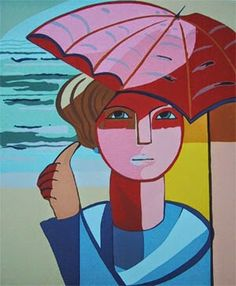 Guarda-Chuva - Cícero Dias e suas principais pinturas ~ Pintor pernambucano Georges Braque, Henri Matisse, Arte Pop, Woman Painting, Disney Characters, Fictional Characters, Mexican, Disney Princess, Portrait