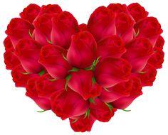 Rose Heart Transparent PNG Image