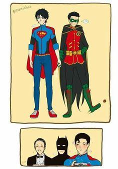 Read from the story Album Jondami-Damijon by (Jocelin Juarez) with reads. Marvel Dc Comics, Math Comics, Robin Comics, Robin Dc, Superman X Batman, Humor Batman, Univers Dc, Superhero Kids, Dc Memes
