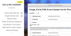 Download Nulled Google iCal & XML Event Calendar for WordPress For Free