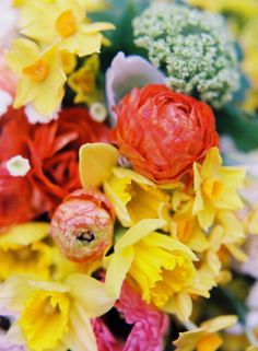 Daffodils, queen anne's lace and ranunculus- Patterson Maker