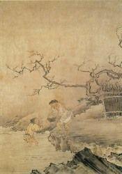 長谷川等伯(信春)「春耕図」  京都国立博物館蔵