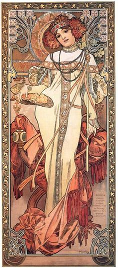 Czech-Alfons Mucha. I had this poster on my wall as a student ... love it!