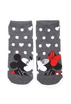 Mickey & Minnie Kissing Socks | FOREVER21 - 2000102046