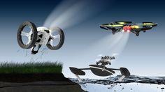 13 nowych minidronów Parrot - latają, skaczą, pływają