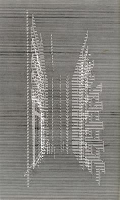Takefumi Aida    The use of different lines creates depth and perspective in this piece representing architectural renderings