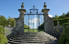 Entry gates at Chateau de Brecy France