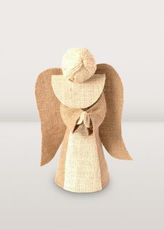 Jute Angel Tree Topper Handmade in Bangladesh