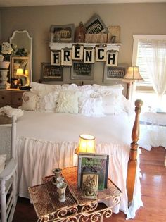 Decorating With Clipboards...very cool idea, the word French