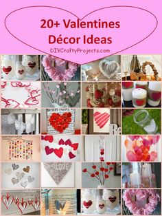 Puzzle Hearts   Doily Heart Bakers Twine Bunting  Doilies & Hearts Tied on Jars with Strings Tutorial DIY  Valentine's Day Paper Strip Heart Garland  DIY Heart Decorations for Valentine's Day.  Paper Heart Wall Art.   Heart Garland   Valentine's Lanterns.  Valentine ...