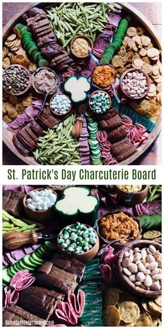 Make a Happy St. Patrick's Day Charcuterie Board for your next Irish party. Whether you're serving a hearty Irish stew, a shepherd's pie, or corned beef with cabbage and Irish soda bread, your guests will love you if you set out a giant, festive charcuterie board, or snack board, served with your favorite beer!