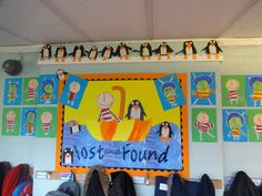 Lost and found school display. Display Boards For School, School Displays, Classroom Displays, Year 2 Classroom, Oliver Jeffers, Eyfs, Reading Room, Winter Activities, Mark Making