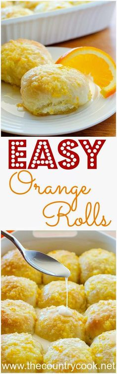 Easy Orange Rolls. Using frozen bread dough makes this a cinch to make. Tender bread with an amazing orange glaze takes these over the top!!
