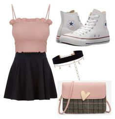 """""""Untitled #14"""" by jazmingiron on Polyvore featuring Converse and Diane Kordas"""