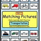 Autism File Folder Matching Skills TRANSPORTATION-Autism File Folder Matching Skills TRANSPORTATION {Set of 2}- Perfect for young learners and those with Autism or developmental delays. will be a preferred activity with your students!