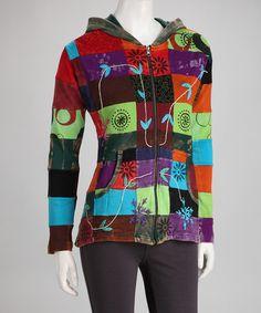 Look what I found on #zulily! Pink & Green Jacket - Women #zulilyfinds