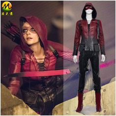 Cheap costume jacket, Buy Quality costume maid directly from China costumes best Suppliers: Green Arrow Cosplay Clothes for Women Superhero Red Arrow Costume Thea Queen Ho