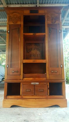 1940's Revamped Library Cabinet Library Cabinet, Old Crates, 1940s, Home Decor, Decoration Home, Room Decor, Old Wooden Crates, Old Drawers, Interior Decorating