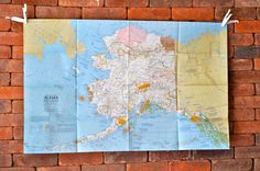 Vintage Map of Alaska by HouseVintage on Etsy