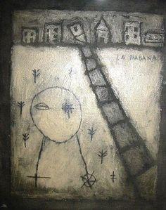 La Habana, mixed media on canvas and wood, 2004, 16x20