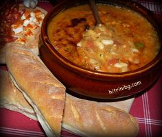 Bulgarian Recipes, Bulgarian Food, Queens Food, Tasty, Yummy Food, Bean Recipes, Beans, Pork, Dishes