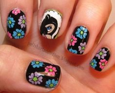 79 Wonderful Disney Nail Art Designs. I like and could probably do numbers 12, 13, 16, 22, 25, 27, and 52. Get Nails, How To Do Nails, Hair And Nails, Nail Art Designs, Nail Polish Designs, Polish Nails, Fashion Nail Art, Fashion News, Fashion Beauty