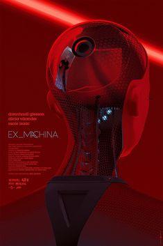 Original Ex Machina Laurent Durieux Print Poster Mondo Ex Machina Movie, Laurent Durieux, Film Science Fiction, Keys Art, Alternative Movie Posters, Movie Poster Art, Monster, Good Movies, Cyberpunk