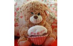 Brown Cupcake Plush Bear at MyFreebeez.com