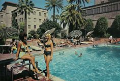 Westward Ho! Hotel pool in the 1960s