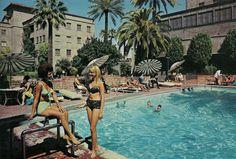 Westward Ho! Hotel pool in the 1960s